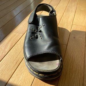 black dr martens sandal/clog